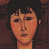 Head of a Young Girl (detail) Posters par Amedeo Modigliani