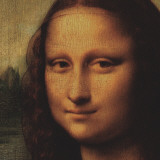Mona Lisa (detail) Kunstdrucke von  Leonardo da Vinci