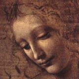 Testa di Faniciulla Detta (detail) Plakater av  Leonardo da Vinci