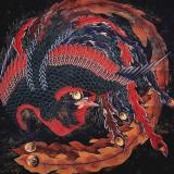 Phoenix (detail) Posters av Katsushika Hokusai