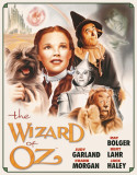 Wizard of OZ Poster Illustrated Placa de lata