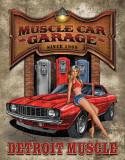 Legends - Muscle Car Garage Plaque en métal