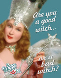 Wizard of Oz Good or Bad Witch Plaque en métal