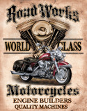Legends - Road Works Tin Sign