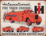 International Fire Truck Chassis Blechschild