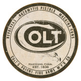 Colt - Round Logo Metalen bord