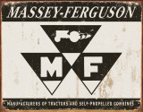 Massey Ferguson Logo Metalen bord