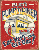 Schonberg - Pump 'n Diner Plaque en métal