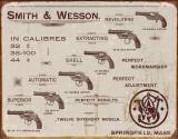 S&W - Revolvers Metalen bord