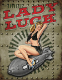 Legends - Lady Luck Metalen bord
