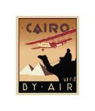 Cairo by Air Giclée-tryk af Brian James
