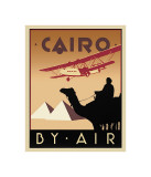 Cairo by Air Giclée-vedos tekijänä Brian James
