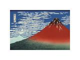 Red Fuji Impressão giclée por Katsushika Hokusai
