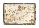 Greetings from Long Island Giclee-trykk