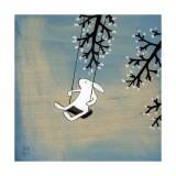 Følg dit hjerte, gyng roligt Giclée-tryk af Kristiana Pärn