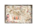 Aloha Hawaii Giclee-trykk