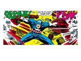 Marvel Comics Retro: Captain America Comic Panel, Fighting, Phase 1, So Far So Good! Stampe