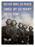 WWII British RAF Recruiting Poster Giclee-trykk