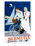 Pan American Airline to Bermuda Giclée-Druck