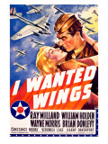 William Holden WWII AFF Wings Movie Poster ジクレープリント