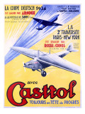 Castrol Aviation Motor Oil Poster Giclée-Druck
