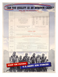 WWII US Army Air Forces Recruiting Poster Stampa giclée