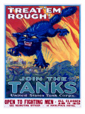 US Army Recruiting Poster 'Join the Tanks' Giclee-trykk