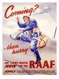 WII Royal Air Force Recruiting Poster Stampa giclée