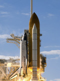 Space Shuttle Atlantis Lifts Off from its Launch Pad at Kennedy Space Center, Florida Fotografie-Druck