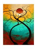 Twisting Love Poster por Megan Aroon Duncanson