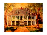 Old Louisiana Planters House Posters by Diane Millsap