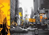 New York City in Yellow Poster by Cylia Woods