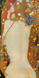Waterslangen IV, ca. 1907 Poster van Gustav Klimt