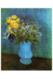 Vase with Lilacs, Daisies and Anemone Posters av Vincent van Gogh