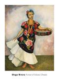 Portrait of Dolores Olmedo Prints by Diego Rivera