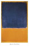 Zonder titel, ca.1950, zwart vlak op oranje/geel Print van Mark Rothko