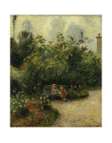 Corner of a Garden at the Hermitage, c.1877 Art by Camille Pissarro