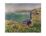 The Cliff at Varengeville, c.1882 Posters por Claude Monet