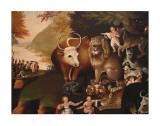 Peaceable Kingdom Plakater af Edward Hicks
