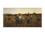 The Return of the Gleaners, c.1859 Prints by Jules Breton