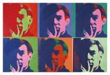 Ensemble de six autoportraits, 1967 Affiches par Andy Warhol