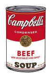キャンベルスープ I、ビーフ缶 1968年 (Campbell's Soup I) ポスター : アンディ・ウォーホル