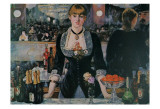 A Bar at the Folies-Bergere Art by Edouard Manet