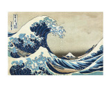 The Great Wave at Kanagawa Kunstdruck von Katsushika Hokusai