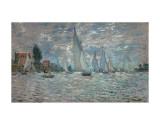 The Sailboats - Boat Race at Argenteuil, c. c.1874 Pôsters por Claude Monet