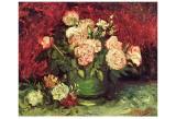 Roses and Peonies, c.1886 Kunst av Vincent van Gogh