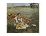 Hay Harvest, c.1877 Julisteet tekijänä Jules Bastien-Lepage