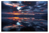 Icelandic Sunset Posters av Maciej Duczynski
