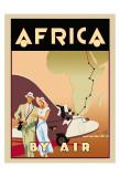 Afrika mit dem Flieger Poster von Brian James