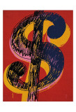 Dollar Sign, c.1981 (black and yellow on red) Posters af Andy Warhol